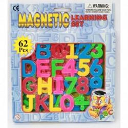 LETRAS Y NUM. MAGNETICOS 62 PCS.