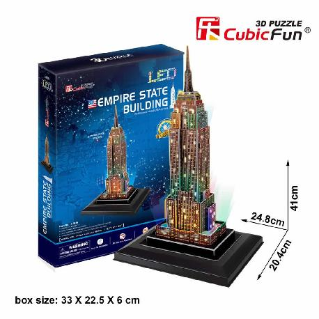 PUZZLE 3D EMPIRE STATE 38PCS LUZ LEDS