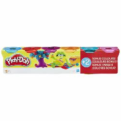 PLAYDOH-4+2 COLORES BRILLANTES