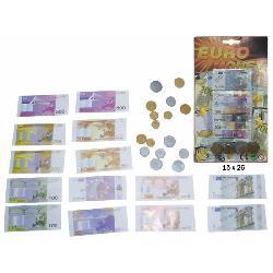 EUROS BILLETES Y MONEDAS E/BLISTER PEQ.