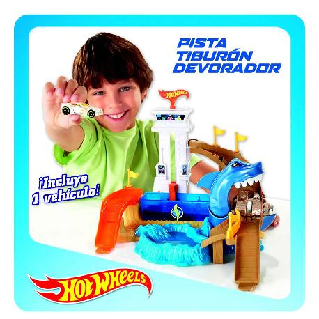 HOT WHEELS-PISTA TIBURON DEVORADOR