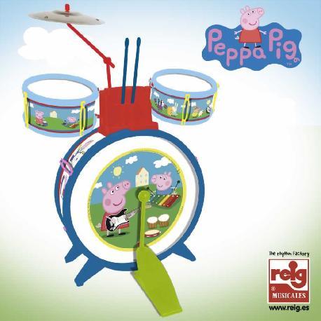 BATERIA PEPPA PIG C/BAQUETAS SENCILLA
