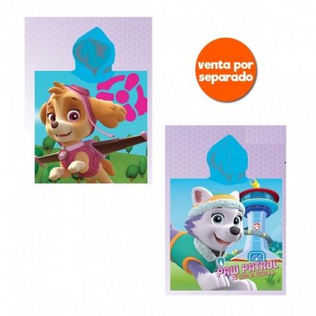 PONCHO PLAYA PAW GIRL 55X100