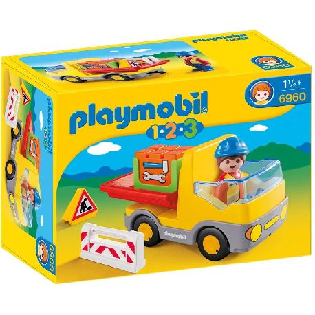 PLAYMOBIL 1.2.3 CAMION CONSTRUCCION