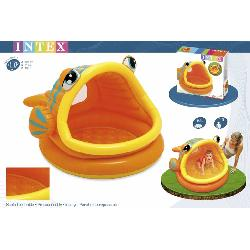 PISCINA  124CM  FORMA  PEZ  HINCHABLE  -COLOR