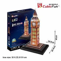 PUZZLE 3D BIG BEN 28PCS LUZ LEDS