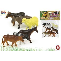 ANIMALES GRANJA 6PCS E/BOLSA -COLORBABY-