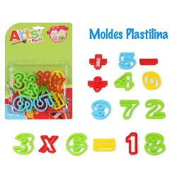 PLASTILINA MOLDES NUMEROS 15PCS. -ATOSA-