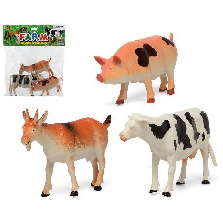 ANIMALES GRANJA 3PCS GDES.E/BOLSA -ATOSA