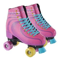 PATIN 4R BOTA DECORADO ROSA -32/33-