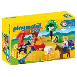 PLAYMOBIL  1.2.3  RECINTO  ANIMALES