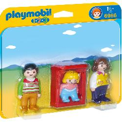 PLAYMOBIL  1.2.3  PADRES  CON  BEBE