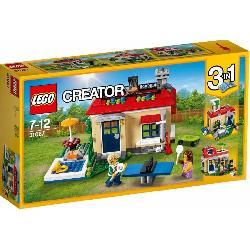 LEGO  CREATOR-CASA  MODULAR  CON  PISCINA