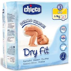 PAÑALES 4-9KG MIDI DRY FIT -CHICCO-