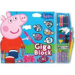 GIGA BLOCK 5 EN 1 PEPPA PIG -CEFA-
