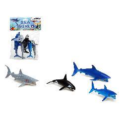 ANIMALES OCEANO 4PCS PVC E/BOLSA -ATOSA-