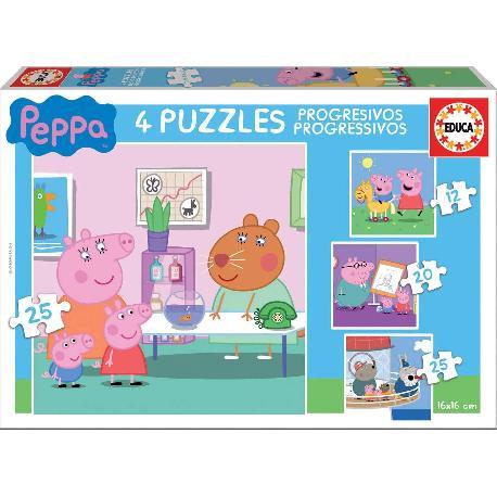 PUZZ PROGRES PEPPA PIG 12+16+20+25