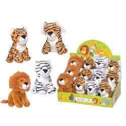 ANIMALES  21CM  TIGRE-LEON  SURT.  -BEATRIZ-