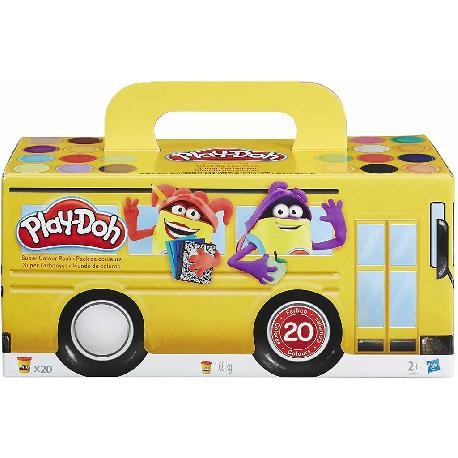 PLAYDOH-20BOTES PACK SUPER COLOR