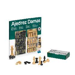 AJEDREZ+DAMAS 40CM C/ACCES -FALOMIR-