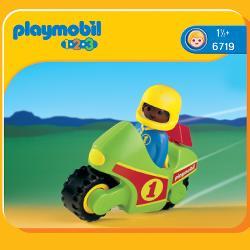 PLAYMOBIL 1.2.3. MOTO CARRERAS