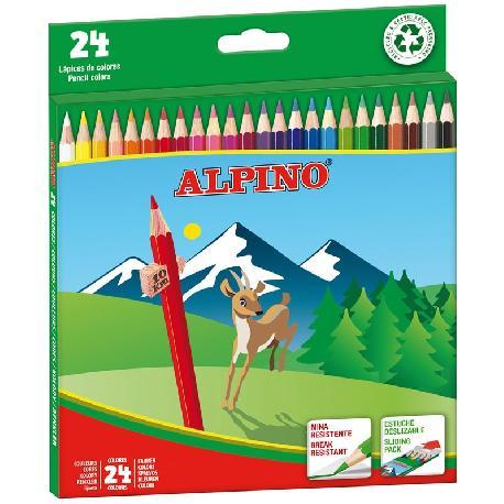 LAPICES COLORES ALPINO 24PCS