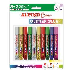 ROTULADORES  ALPINO  GLITTER  CLASIC  8+2