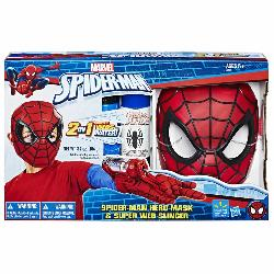 SPIDERMAN  MASCARA  LANZAREDES  ROJA
