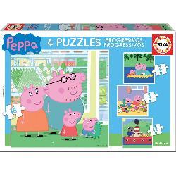 PUZZ PROGRES PEPPA PIG 6+9+12+16