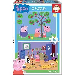 PUZZ 2X48 PEPPA PIG
