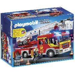PLAYMOBIL CAMION BOMBERO ESCALERA LUZ+SO