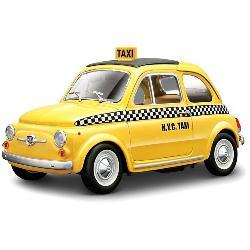 COCHE COLECC.TAXI NY FIAT 500 1:24 -PLAS