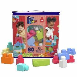 MEGA BLOKS-BOLSA 60PCS ROSA