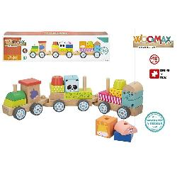 TREN MADERA ZOO PREESCOLAR -COLORBABY-