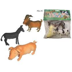 ANIMALES GRANJA 3PCS E/BOLSA -TRITON-