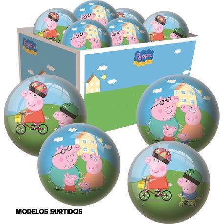 PELOTA PLAST. PEPPA PIG PEQ.150MM