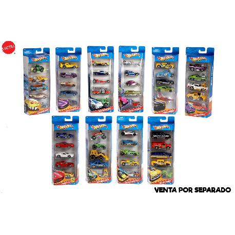 HOT WHEELS-PACK 5 VEHICULOS