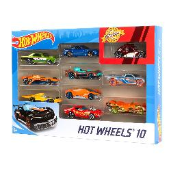 HOT WHEELS-PACK 10 VEHICULOS