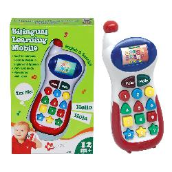 TELEFONO MOVIL C/SON+LUZ BILINGÜE -NAVY-