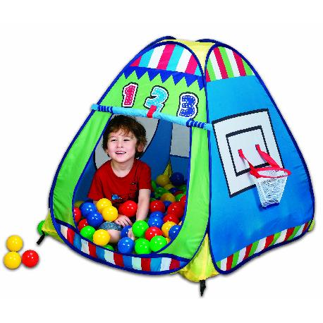 CASITA TELA BASKET TRIANGULAR+100 BOLAS