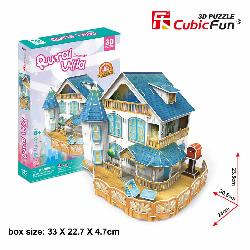 PUZZLE  3D  CASA  RURAL  C/LED  132PCS