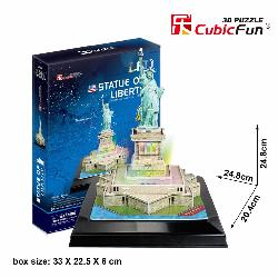 PUZZLE 3D ESTATUA LIBERTAD 28PCS LUZ LED