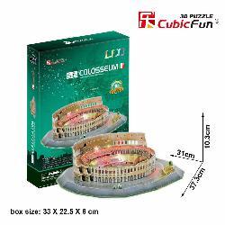 PUZZLE 3D COLISEO ROMANO 185PCS LUZ LEDS