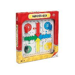 TABLERO PARCHIS/OCA 4JUG+ACCES.MADERA