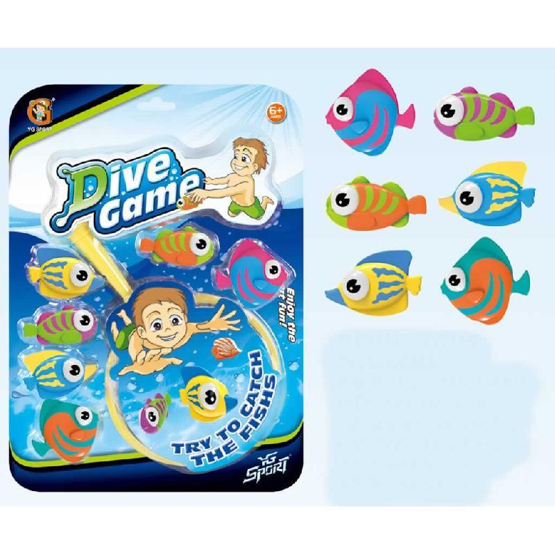 Juego pesca para piscina 6 peces for Piscinas para peces