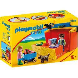 PLAYMOBIL 1.2.3 MERCADO MALETIN