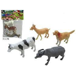 ANIMALES GRANJA 4 UNID BOLSA
