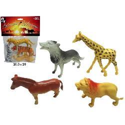 ANIMALES SELVA 4 UNIDADES EN BOLSA