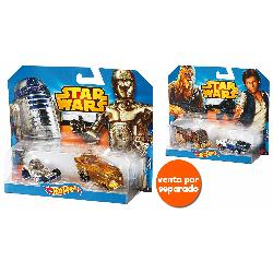 HOT WHEELS-VEHICULO STARWARS PACK 2UD