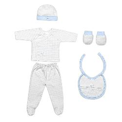 SET REGALO 5PCS T0-6 MESES AZUL